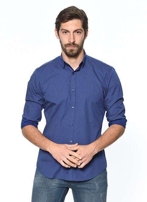 Daffari Slim Fit Gömlek Lacivert